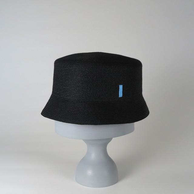 SS20-BD-1 Paper Braid Deep Bucket BLK/SBL