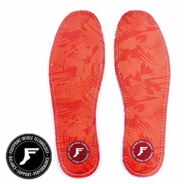 5mm FP INSOLE/FOOT PRINT INSOLE  KING FOAM INSOLES-RED CAMO