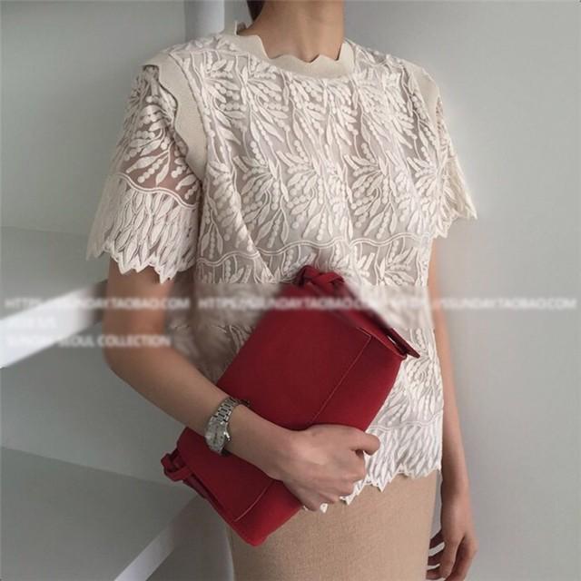 ◆予約◆whole lace tops