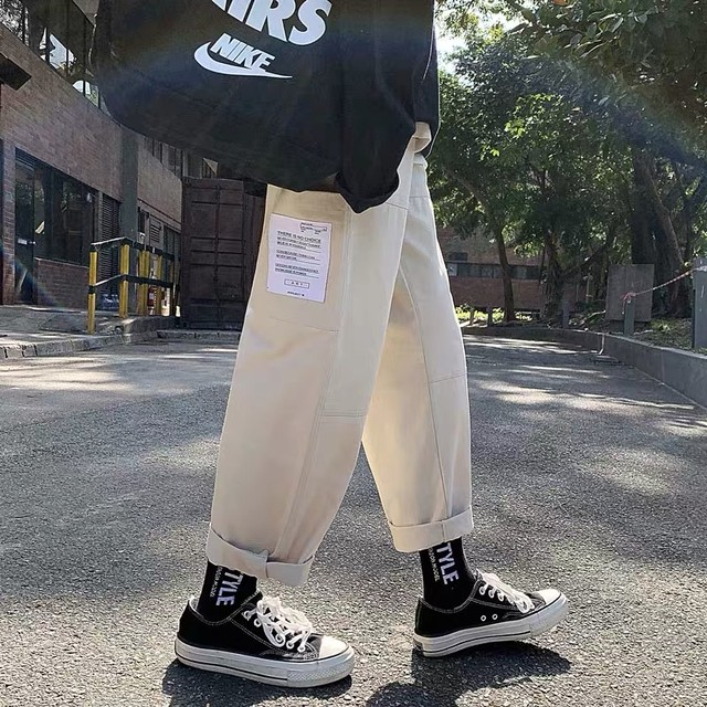 tagged wide pants	PD0410