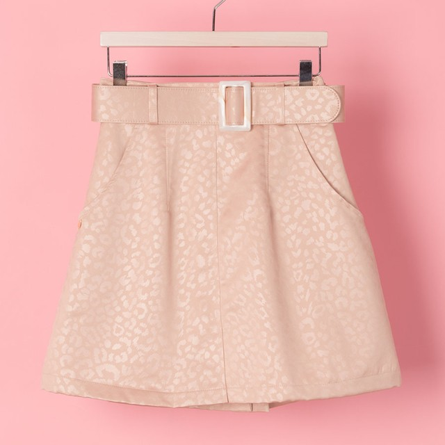 BUCKLE LEOPARD SKIRT(VN1708001)