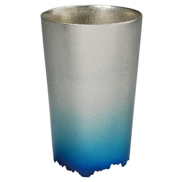 【全国送料無料】SHIKICOLORS ICEBLUE TUMBLER S(錫の酒器)