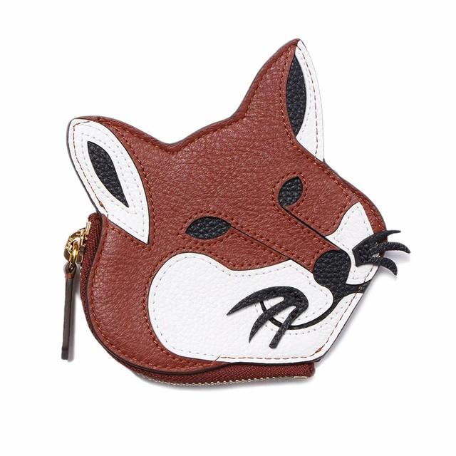 MAISON KITSUNE(メゾンキツネ) コインケース 小銭入れ LEATHER FOX HEAD COIN PURSE コインパース キツネ レザー 革財布 メンズ ユニセックス BU05305LC0001 [全国送料無料] r014283