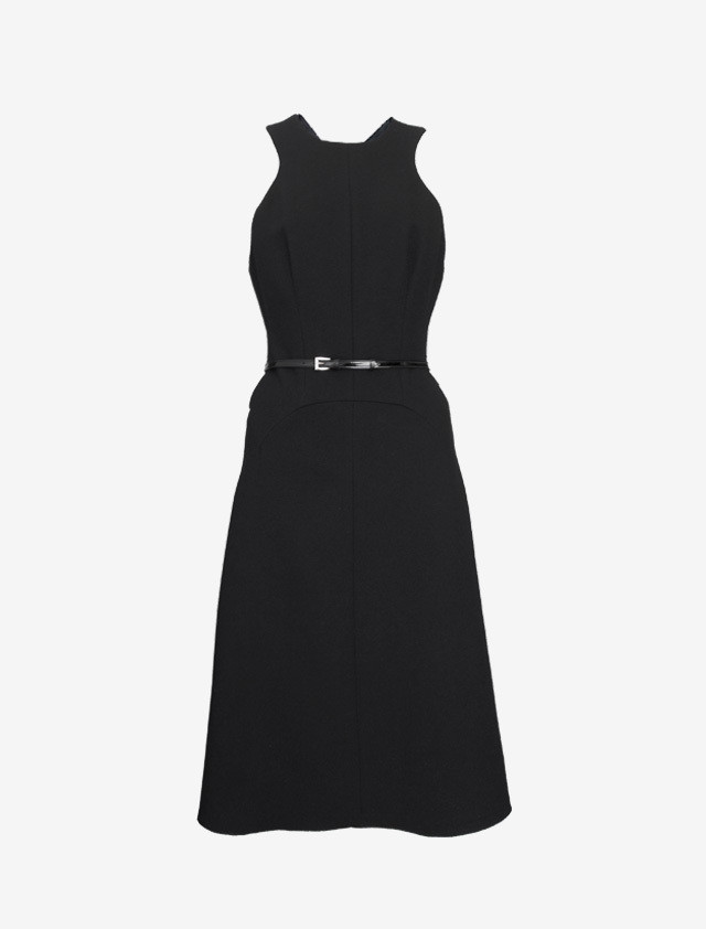 PRADA BACKCROSS BLACK DRESS