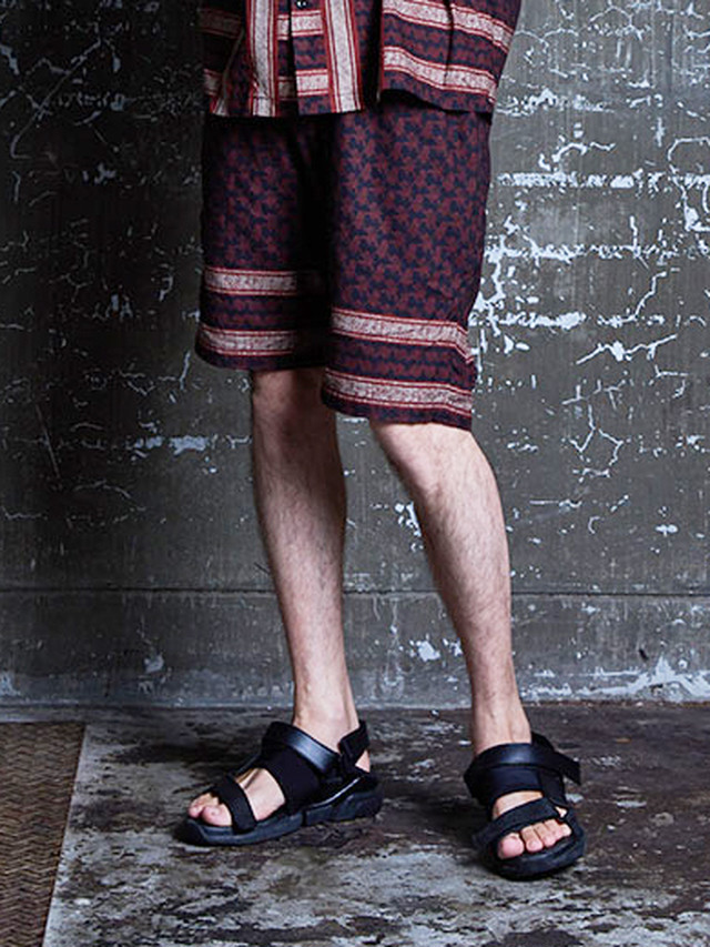 EGO TRIPPING (エゴトリッピング) AFGHAN PANEL SHORTS / WINE 623652-14