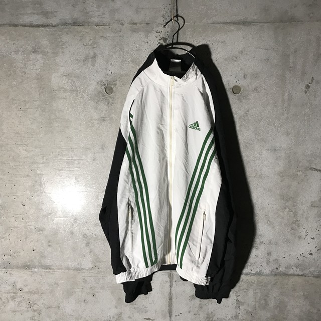 [adidas] green line designed poly  jacket