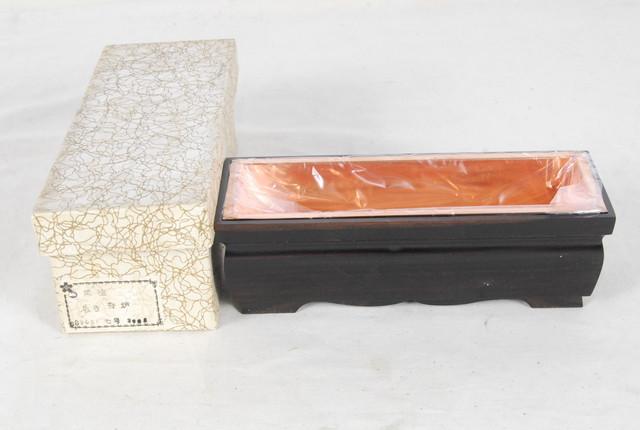 2712 未使用 豪華 黒檀 長香炉 銅落とし付 仏具 幅21.3cm 高さ7cm 愛知県岡崎市 直接引取可