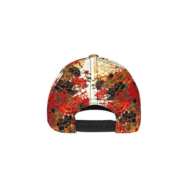 和柄牡丹家紋装飾 Baseball Cap・ベースボールキャップ