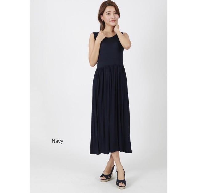 シンプル ワンピース ドレス マキシ丈ワンピース