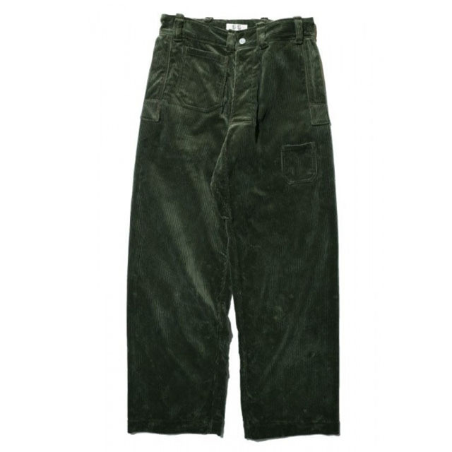 JOHN GLUCKOW Net Maker's Trousers コーデュロイ オリーブ [JG43305]