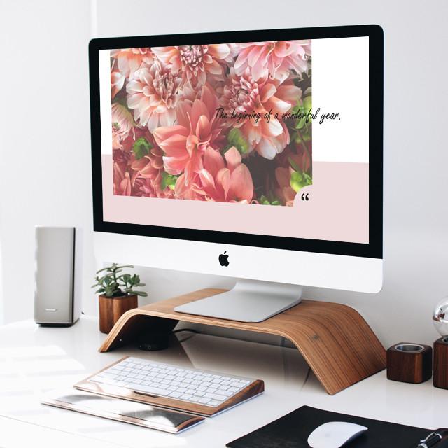 【デスクトップ画像】MacBook用_Flower-circle
