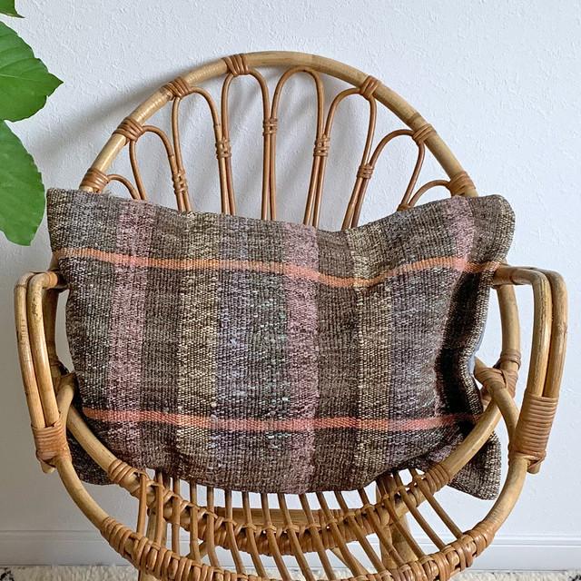 手織り キリム クッション 長方形 C027