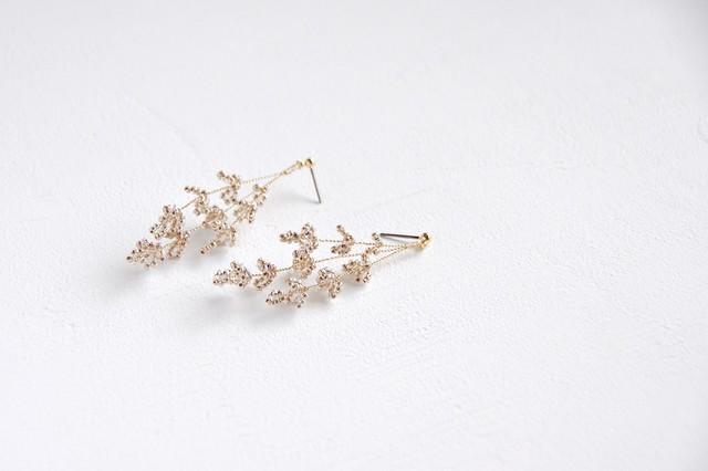 Bailey Earrings [ Antique-gold / Silver ]