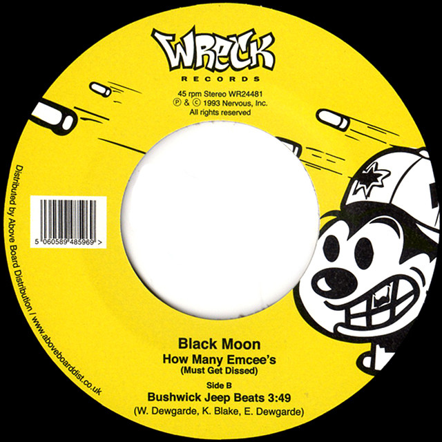 """【7""""】Black Moon – How Many Emcee's (Must Get Dissed)"""