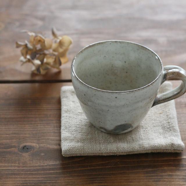 江原法雄 緑釉酒杯