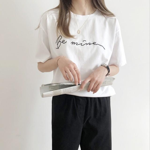 【予約】刺繍レタリング Tシャツ t81-61