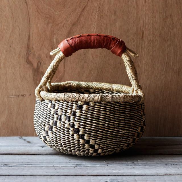 ガーナの手編み ボルガバスケット / 小 I