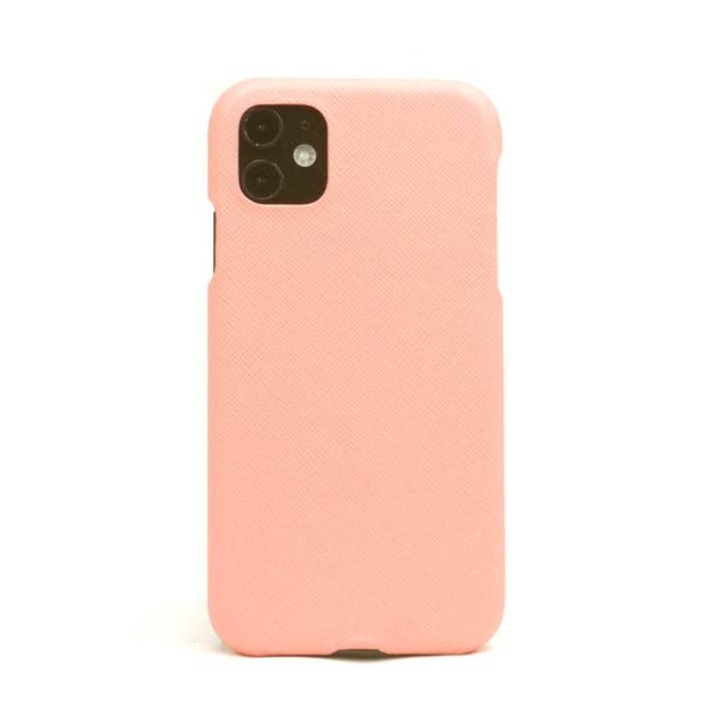 【シェルピンク】シンプルケース iPhone / Galaxy / Xperia /  Googlepixel / Huawei / Oppo Reno / AQUOS