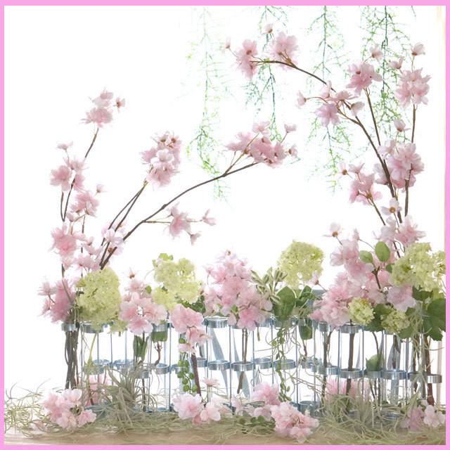 「さくらピンク春ウェディング」ディスプレイフラワー