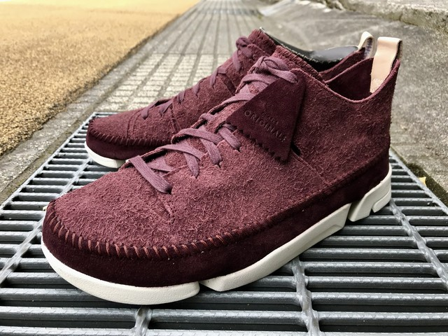 CLARKS ORIGINALS TRIGENIC FLEX (BURGUNDY SUEDE)