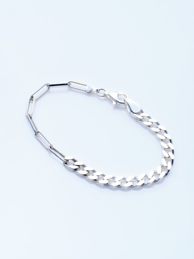 [NOMG] silver combination chain bracelet ( CAAC-B002)-Handmade-