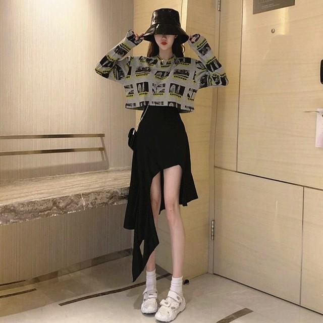 【ボトムス】カジュアル個性的シンプル不規則スカート41927633
