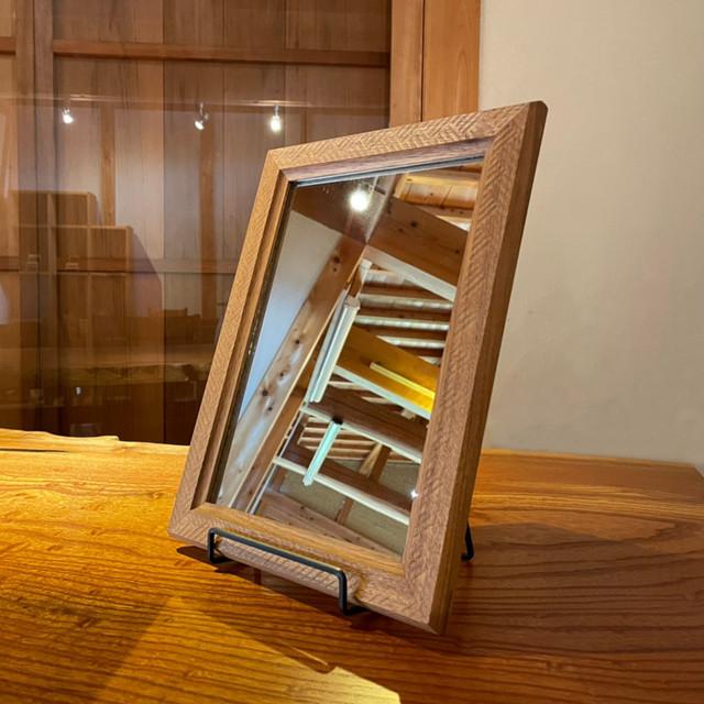 チェリー材 鏡 350×260(mm)