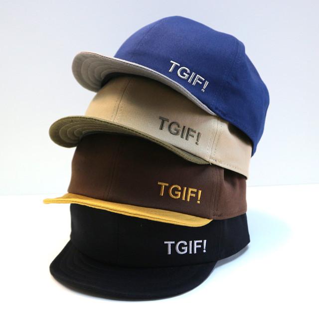 TGIF!  抗菌防臭吸汗加工 コットンアンパイヤキャップ