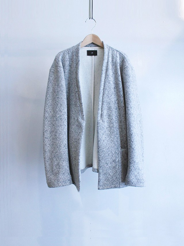 Garage.U.W Exclusive Reciprocity WOOL MELTON JACQUARD NC JACKET