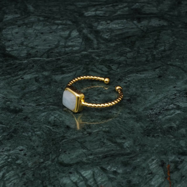 SINGLE MINI STONE RING GOLD