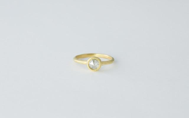 ローズカットダイヤモンドリング