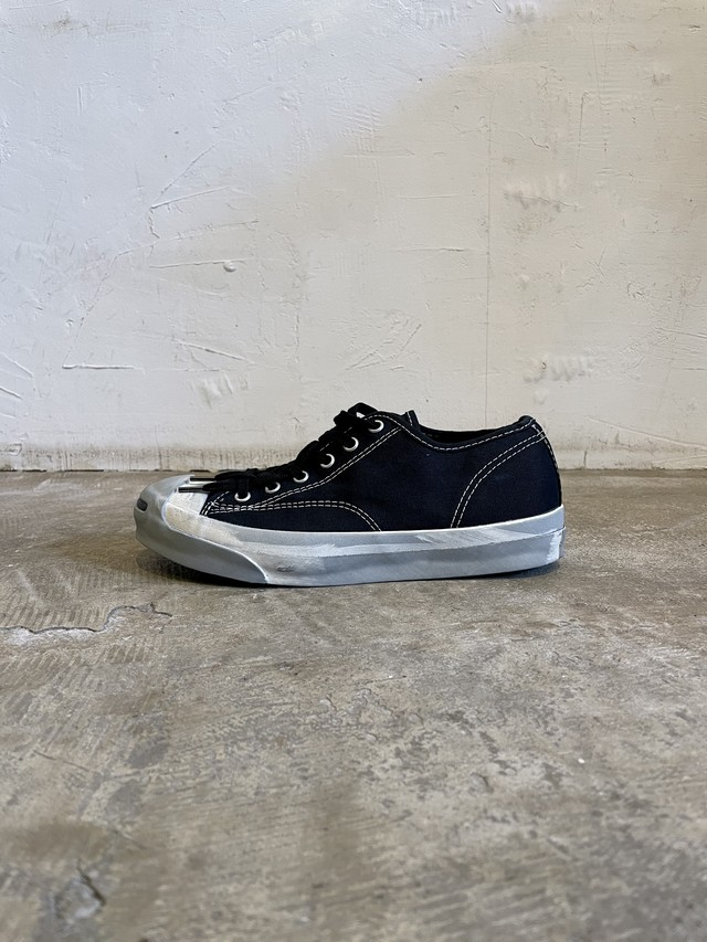 pre-fix Jack Purcell object dyed -  complete black【 受注受付 3/14 まで 】
