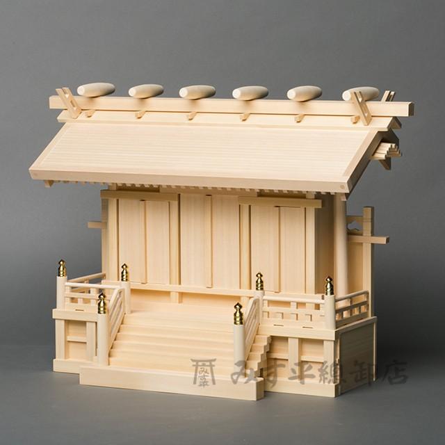 横通三社宮 廻縁屋根 1尺8寸 板戸