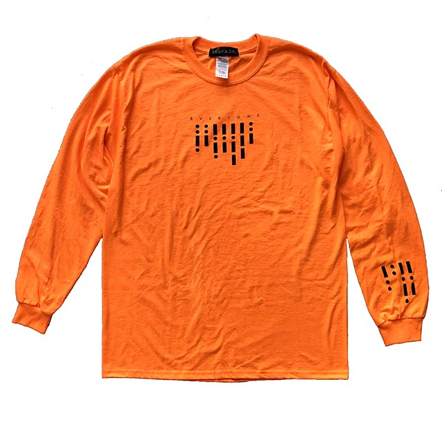 Segnale Long Sleeve Tee (JFK-019) - Orange