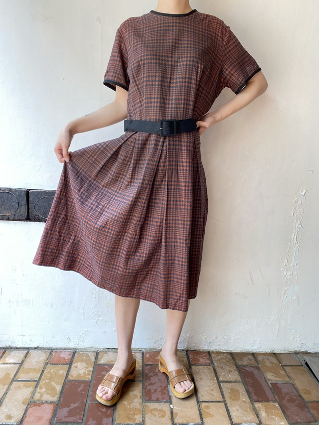〜50s houndstooth pattern dress[1295]