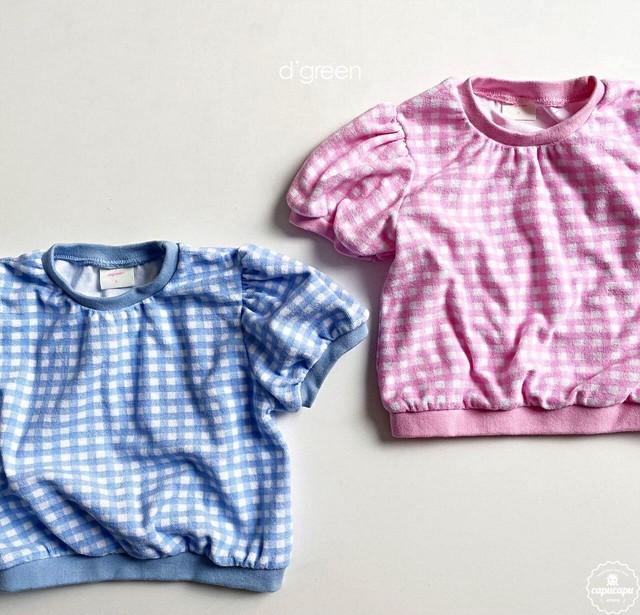 «予約» digreen Gingham check T shirt  ギンガムチェックTシャツ