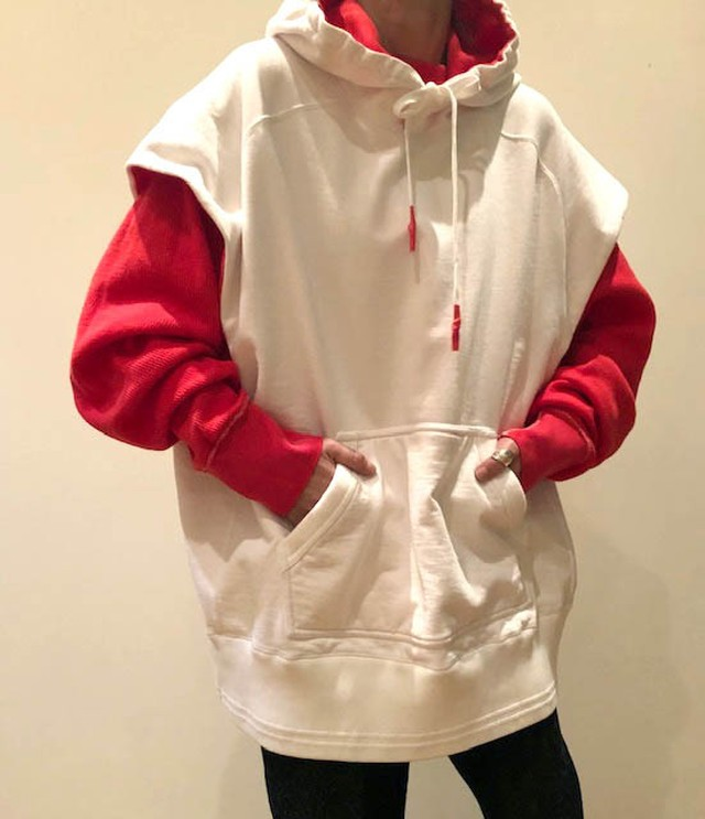 FUMIKA_UCHIDA   [NO-SLEEVE DOUBLE FACE HOODY]