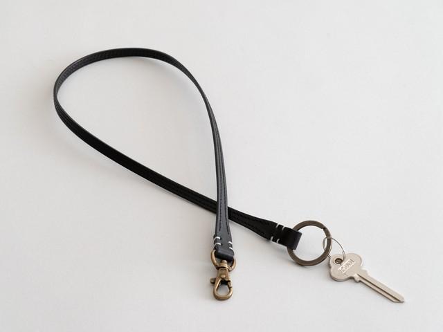 革のキーベルト ブラック
