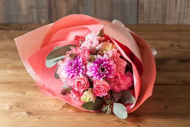 【いい夫婦の日のプレゼントにぴったり】花束/ロングタイプ(ホワイト&ブルー系)