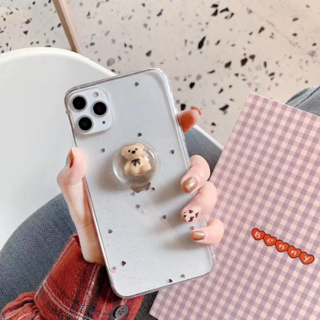 【国内発送】グリッター アプリ iphoneケース