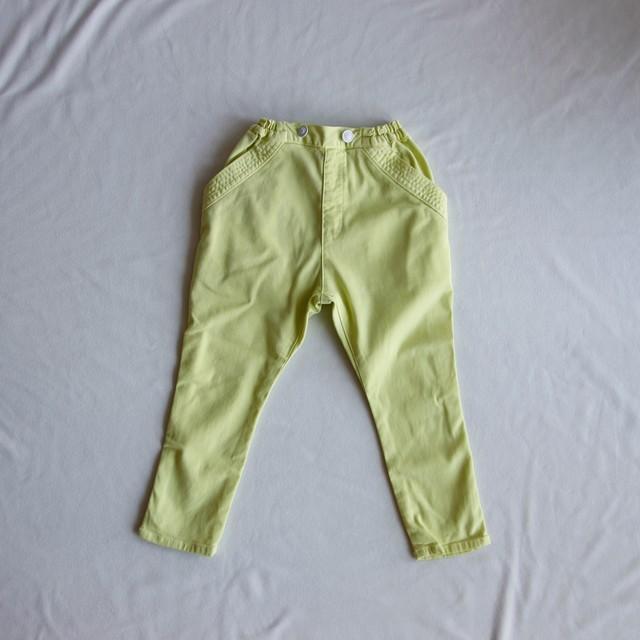 《cokitica 2017SS》sarrouel denim pants / yellow /110cm