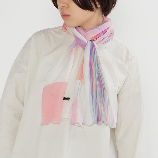 さらっと小ぶりなスカーフ - RAINY-SUMMER - 2color