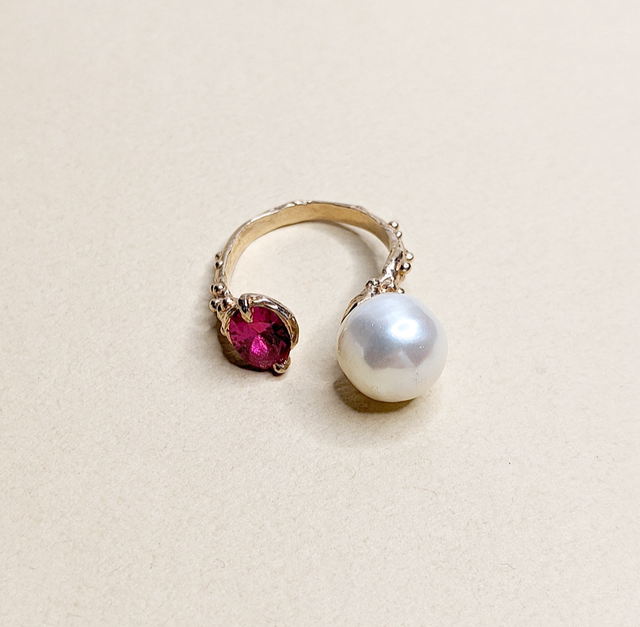 Ruby & Pearl ring | MIHO meets RUKUS