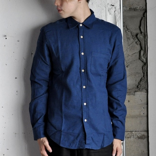 Portuguese flannel shirt -blue-