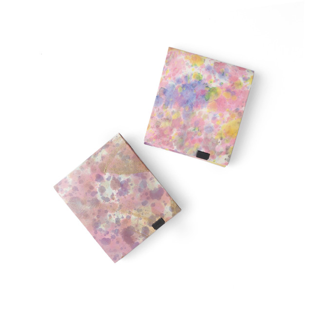 印象派 ショートウォレット2.0  ピンク&バイオレット