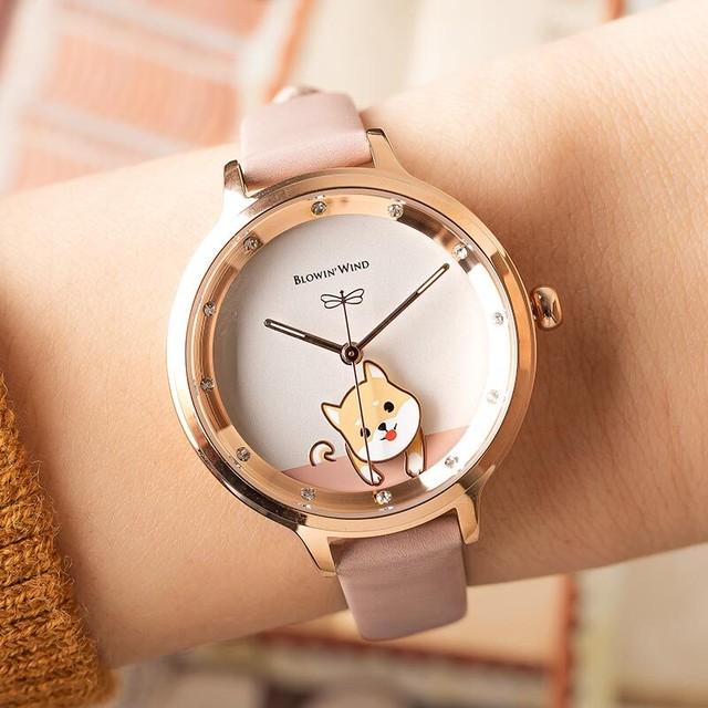 BW AF-F060 Swing(WhiteShiba) レディース腕時計