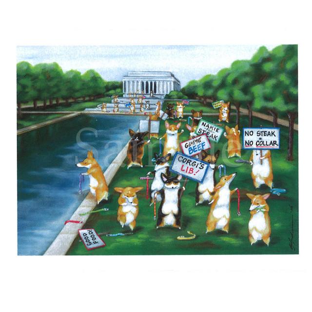 【けいしけいこ】ポメラニアンポストカード【犬柄】