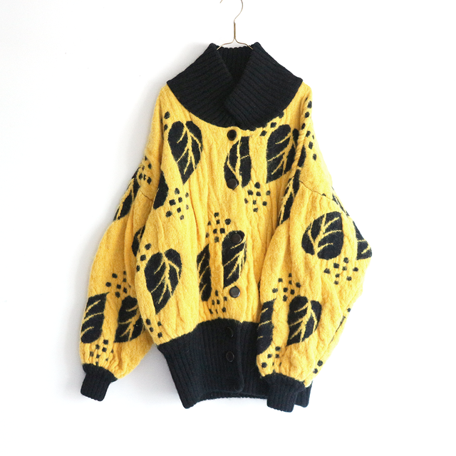leaf pattern knit_CD