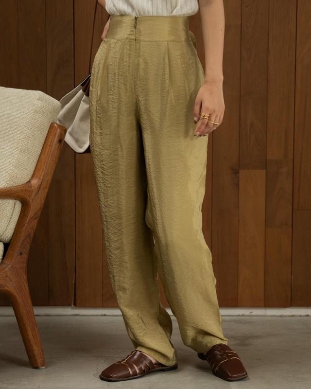 glaze back belt pants