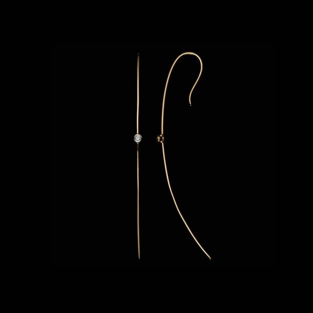 jg <Truth> ピアス K18/ダイヤモンド